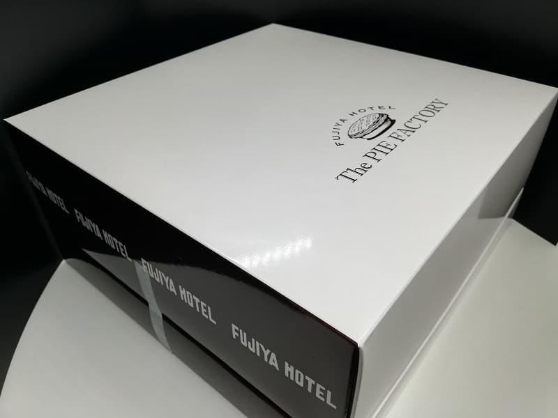 富士屋ホテルのアップルパイの配送用の箱