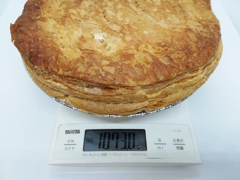 富士屋ホテルアップルパイの重さ