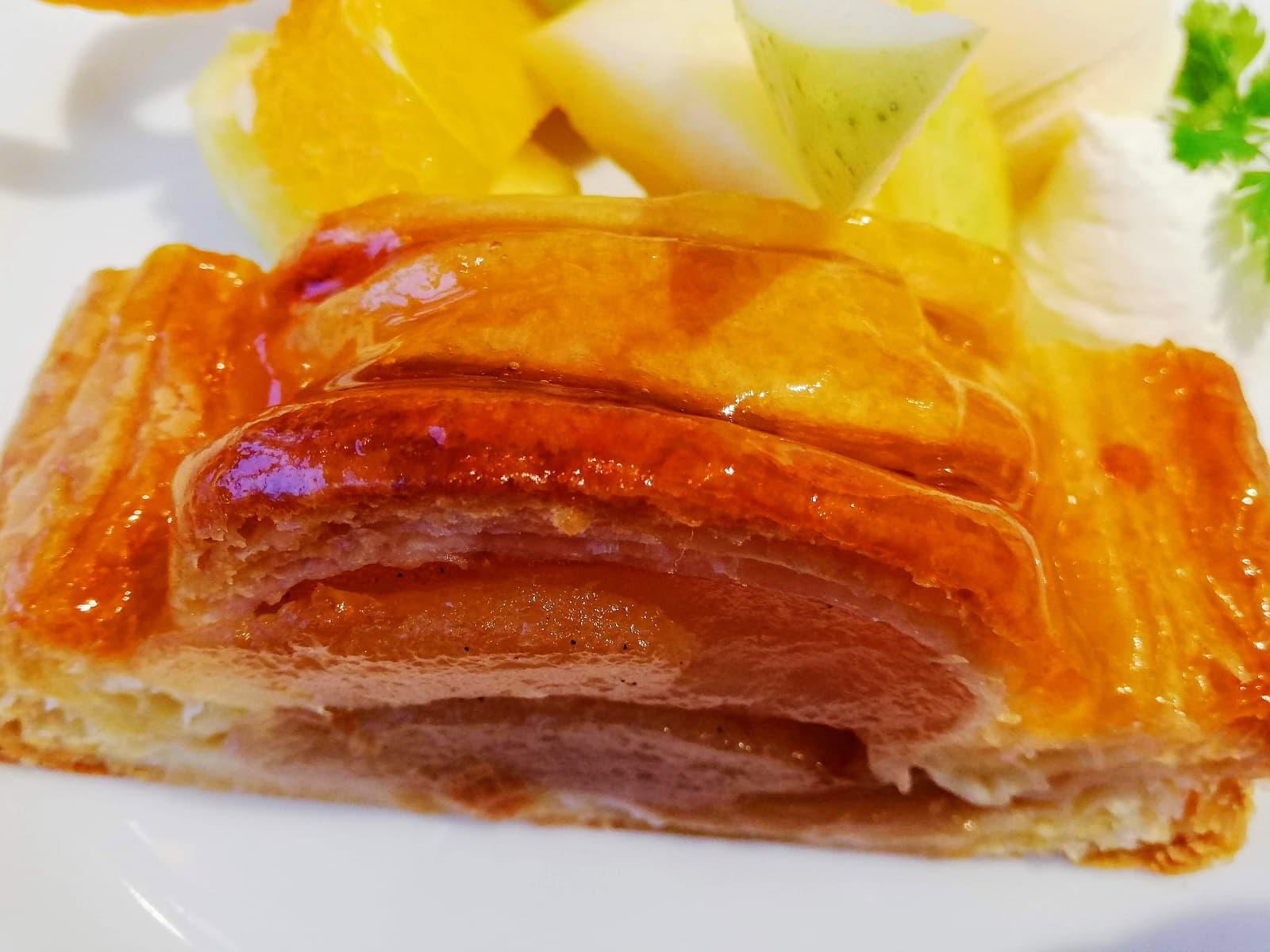 京橋千疋屋のアップルパイの表面