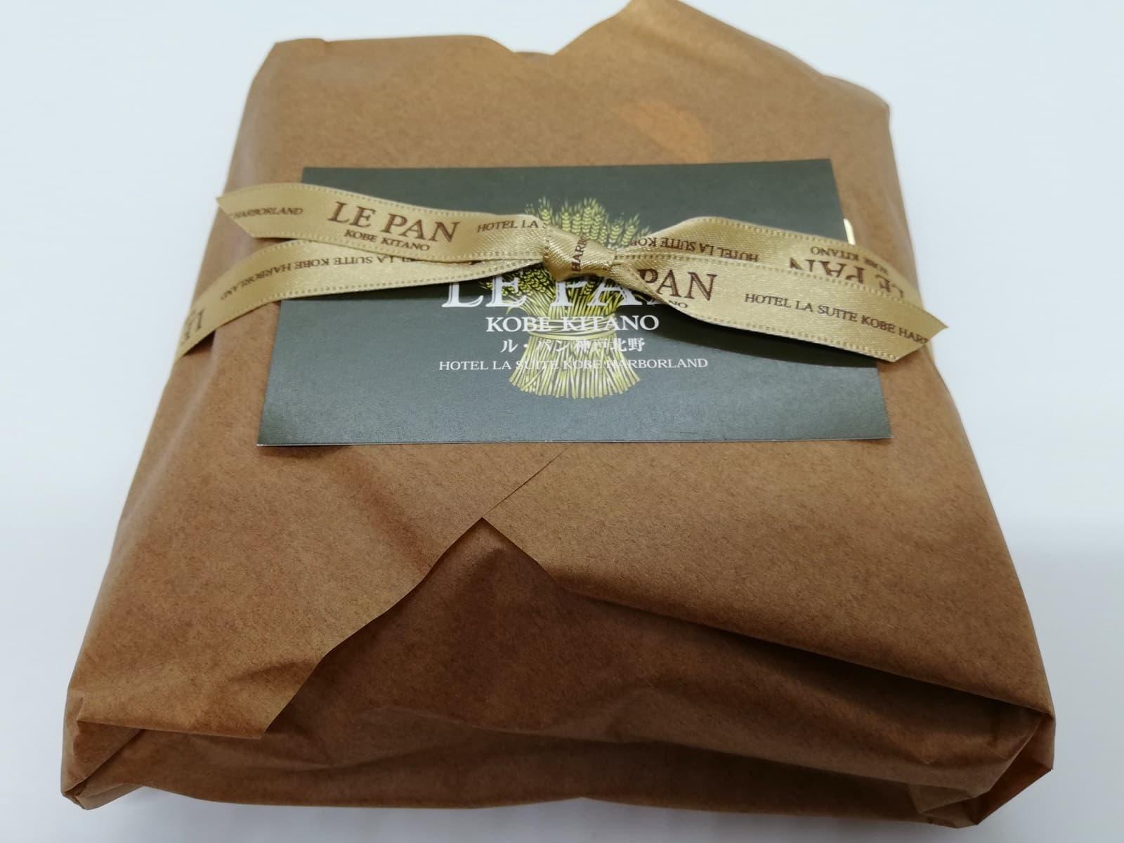 ル・パン神戸北野のアップルパイの包装